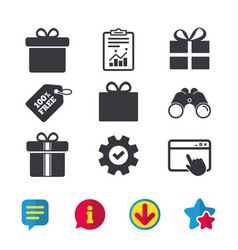 gift box sign icon present symbol vector image