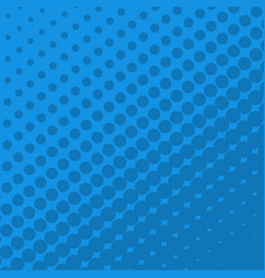 halftone dots on blue background vector image vector image