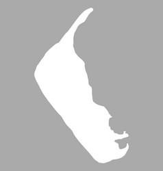 map of amrum vector image vector image