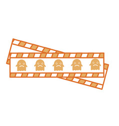 tape measure with ghost vector image
