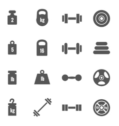 Weight icons vector image vector image