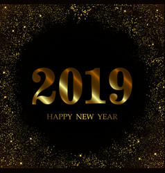 2019 new year black background vector