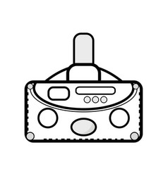 3d eyeglasses to virtual game entertainment vector image