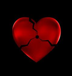 abstract broken heart vector image