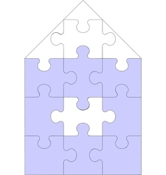 Abstract home puzzle 11 vector image