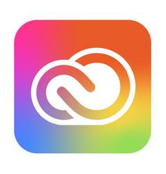Adobe creative cloud icon app for photography vector