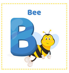 Alphabet printable flashcards with letter b vector