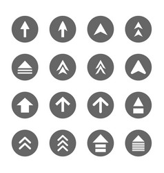 Arrow design sign icons set vector