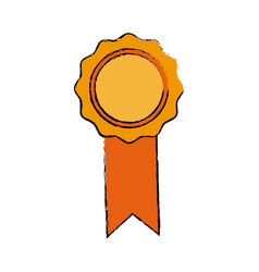badge with ribbons winner medal vector image