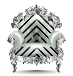 Baroque luxury armchair realistic 3d vector