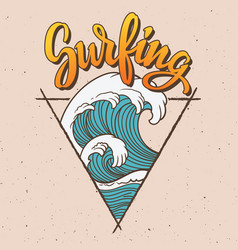 Big wave surfing vector