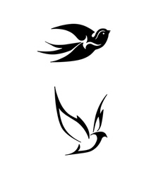 black stylized of birds vector image