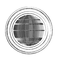 Blurred silhouette heraldic round stamp with vector