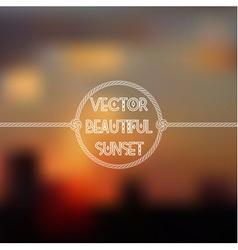 Blurred sunset skyline background vector