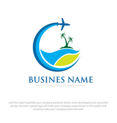 business travel logo designs vector image