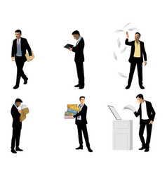 businessmen in action vector image