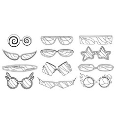 cartoon eyeglasses or sunglasses in stylish vector image