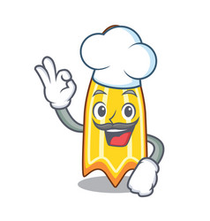Chef swim fin character cartoon vector