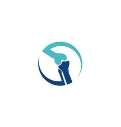 Chiropractic logo template vector