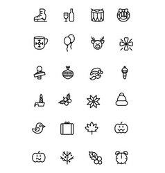 Christmas Line Icons 4 vector
