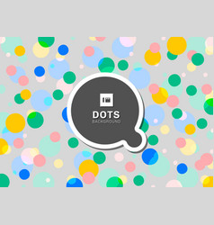 colorful polka dots seamless pattern background vector image