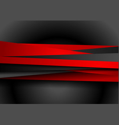 contrast red black tech abstract corporate vector image