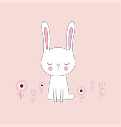 cute bunny rabbit vector image
