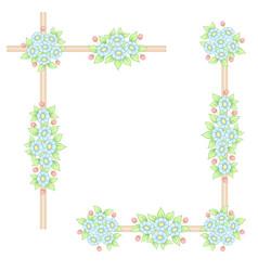 daisy flowers pastel corner frames vector image