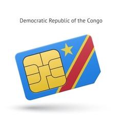 Democratic republic congo phone sim card vector