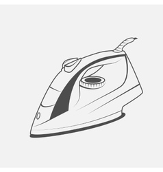 electric iron icon vector image