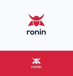 Face ronin logo vector image