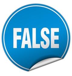 False round blue sticker isolated on white vector