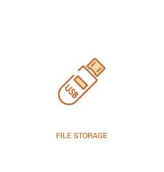 file storage concept 2 colored icon simple line vector image