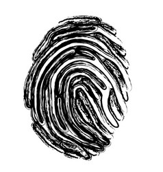 Fingerprint icon image vector