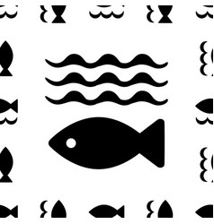 Fish icon or logo vector