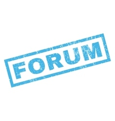 Forum Rubber Stamp vector