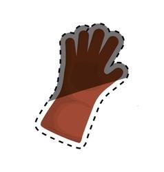 Glove gardening tool vector