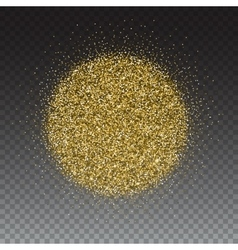 Gold glitter and bright sand transparent vector