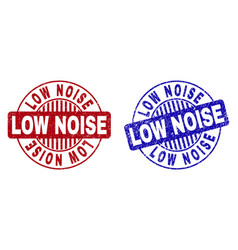 Grunge low noise scratched round watermarks vector