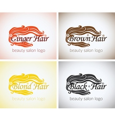 Hair salon Company identity logo design mock up vector image