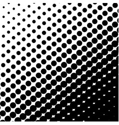 halftone dots on black background vector image