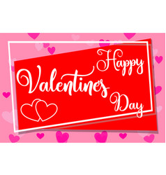 happy valentine s day horizontal colorful poster vector image
