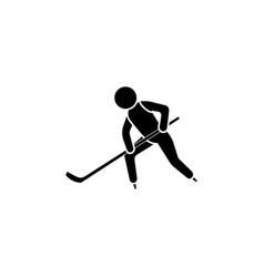 hockey player icon vector image