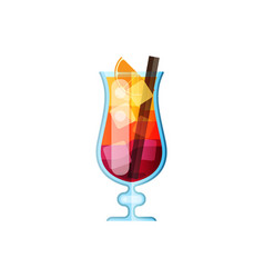 icon cocktail bahama mama vector image