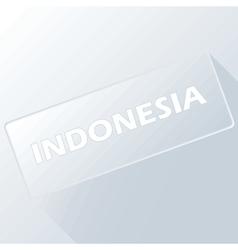 Indonesia unique button vector