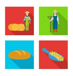 Isolated object farm and arable logo vector