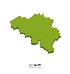 isometric map belgium detailed vector image