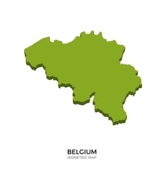 Isometric map of Belgium detailed vector