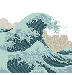 japan wawes vector image
