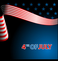 july fourth independence day flying flag of the vector image
